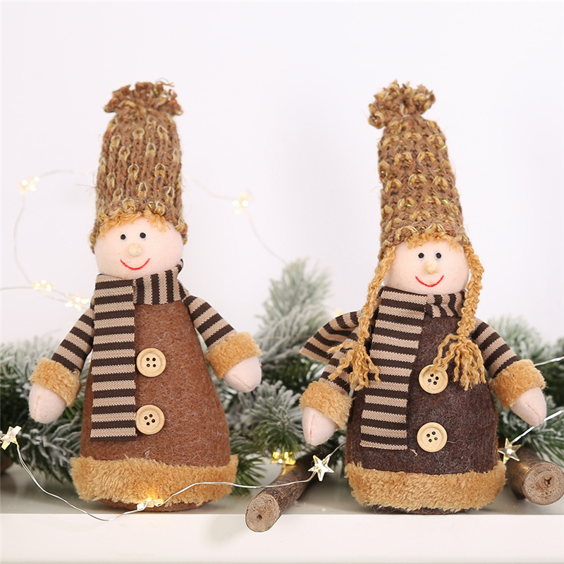 2019 Xmas New Years DIY Christmas Decorations for home Knit Cap Dolls Boys and Girls Creative gift