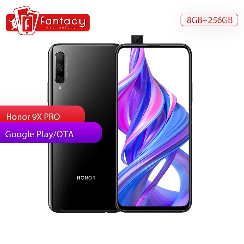 Honor 9X PRO 8GB 256GB Smartphone 6.59'' Full Screen Kirin 810 4000mAh 48MP Front Elevating Camera Multiple Langue OTA