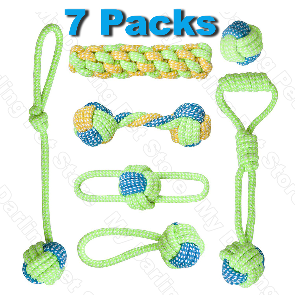 7 Pack Pet Dog Toys for Large Small Dogs Ball Toothbrush Interactive Dog Toys Christmas Products for Dogs Chew Toy Accessories 1