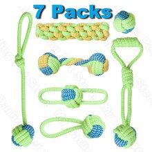Paquete de 7 juguetes para perros mascotas para cepillo de dientes grande pequeña bola para perros juguetes interactivos para perros productos de Navidad para masticable para perros accesorios de juguete