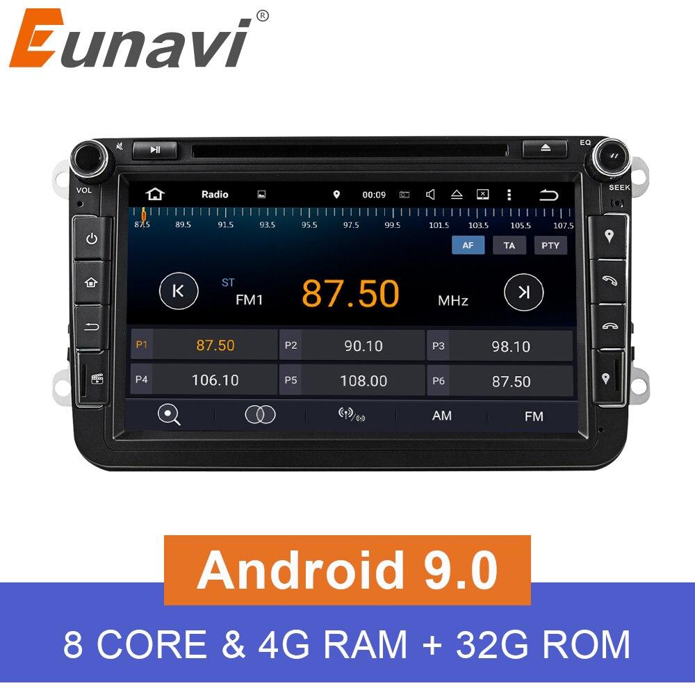 Eunavi アンドロイド 9.0 オクタコア 4 ギガバイト車の DVD Vw パサート CC ポロゴルフ 5 6 トゥーラン EOS t5 Jetta ティグアン GPS ラジオシート  グループ上の 自動車 &バイク からの 車 モニター の中 1