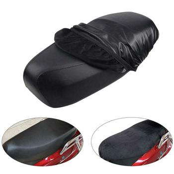 Fajne pokrycie siedzenia motocykla wodoodporna odporna na promieniowanie UV czarna osłona na siedzenie Moto akcesoria solidna osłona motocykla S M L 2020 tanie i dobre opinie Przeciwko Zużycie