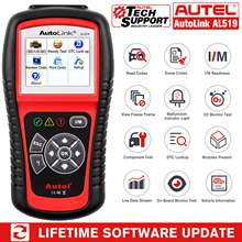 Autel أداة تشخيص تلقائية AL519 ، قارئ رمز خطأ السيارة ، OBD2 ، ماسح ضوئي ، إصدار محدث من MS509