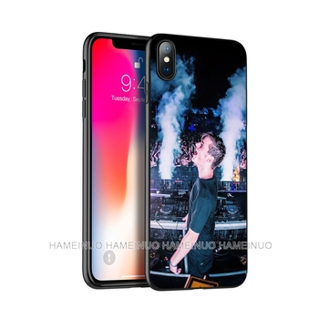 Schwarz tpu fall für iphone 5 5s se 6 6s 7 8 plus x 10 fall silikon abdeckung für iphone XR XS 11 pro MAX DJ Martin Garrix Musik hinweis