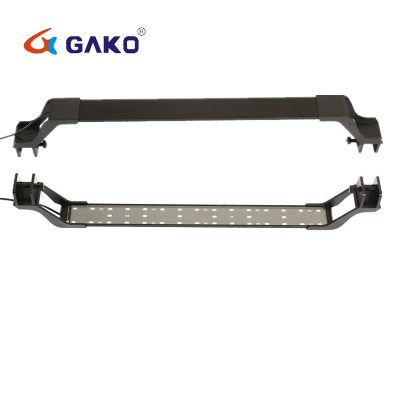 23 33 53 73 85CM Ultra thin Alloy 5730 SMD LED Beads Clip Light Aquarium Fish Tank Lamp With Bracket US EU UK SAA Plug in Lightings from Home Garden