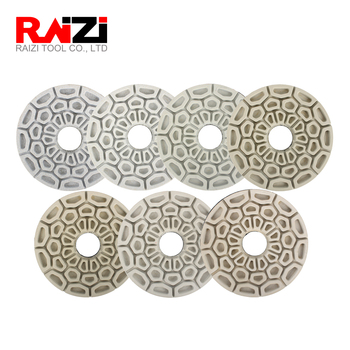 Raizi 6 Inch Automatic Edge Diamond Sanding Disc for Straight and Beveled Edge of All Stones Grit 50-3000