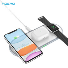 FDGAO 3 in 1 Qi Wireless Charger 10W Fast Wireless Charging Pad For iPhone 11/11Pro/X/XS/XR/8 for Apple Watch Series Airpods Pro(China)