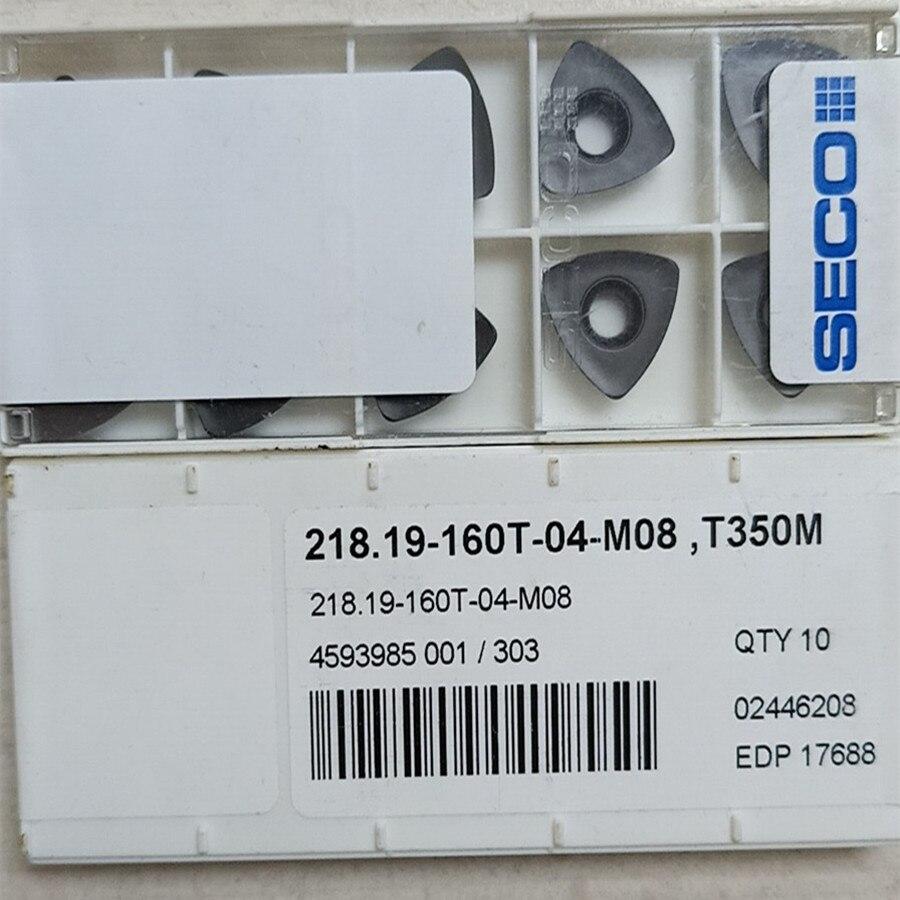 Seco 218.19-160 t-04-m08 t350m carboneto insere 10 peças