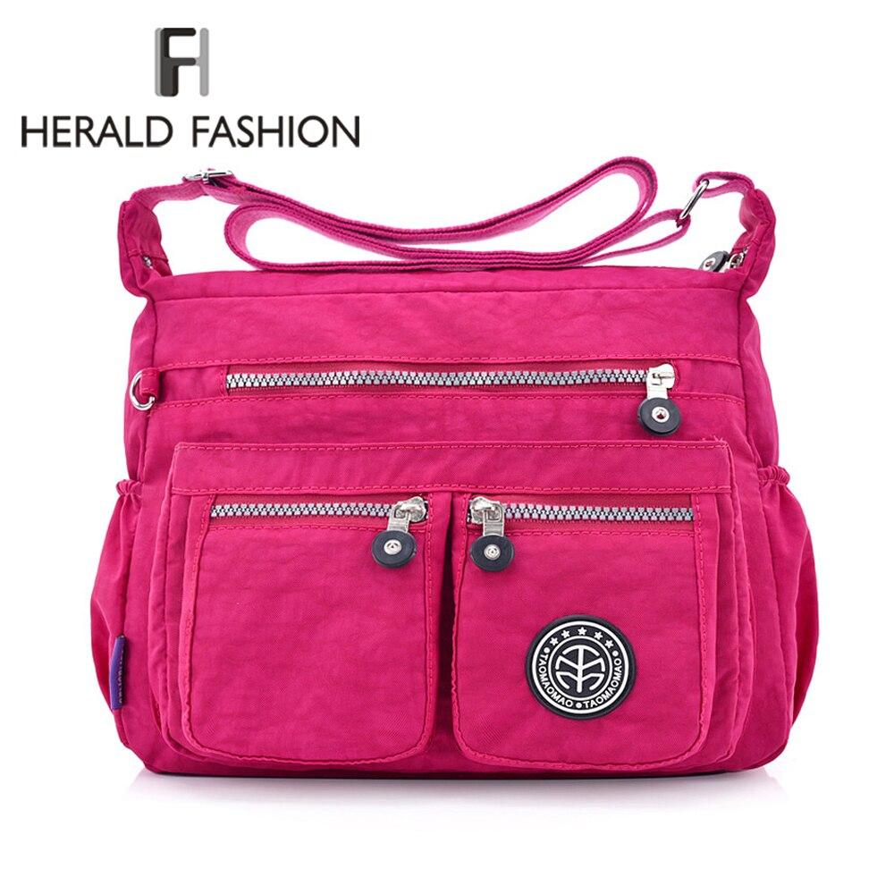 Herald Fashion Waterproof Nylon Women Messenger Bags Carteira Vintage Hobos Ladies Handbag Female Crossbody Bags Shoulder Bags