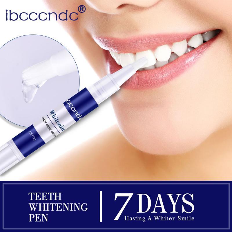 1Pc 3ML Dental Teeth Whitening Yellow Smoking Stains Removal Pen Teeth Decontamination Brighten Gel Pen Tooth Cleaning Gel TSLM1
