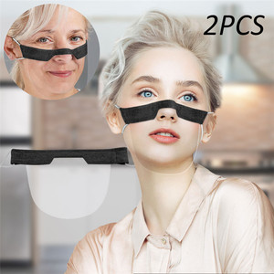 2PCS Women Smile Communicator Outdoor Shield Washable Reusable Comfortable For Eye Faces Protection with Mouth Expression Lip