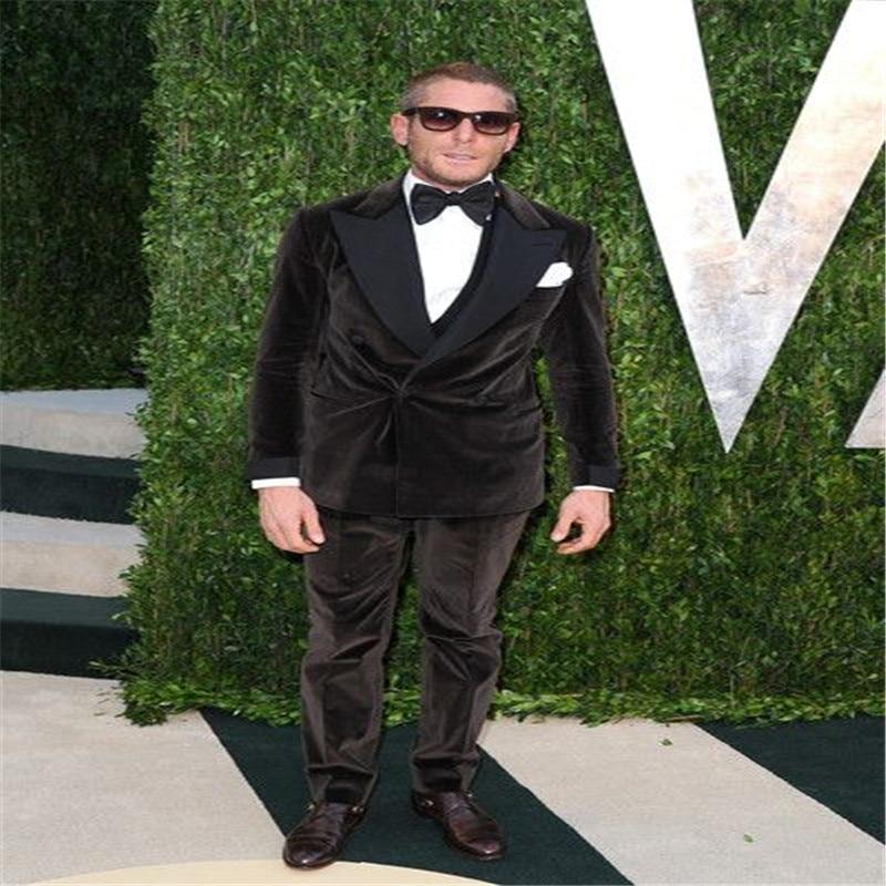 Latest Coat Pant Designs Black Velvet Men Suit Double Breasted Slim Fit 2 Piece Tuxedo Formal Custom Groom Suits Terno Masculino