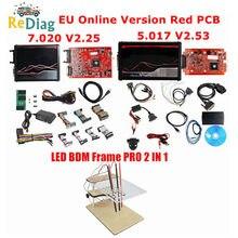 ECM Titanium V2 5.017/V2.53 EU Red V2.25/V7.020 4-Version Master en ligne, cadre BDM ECU, programmeur de voiture/camion, prise OBD2