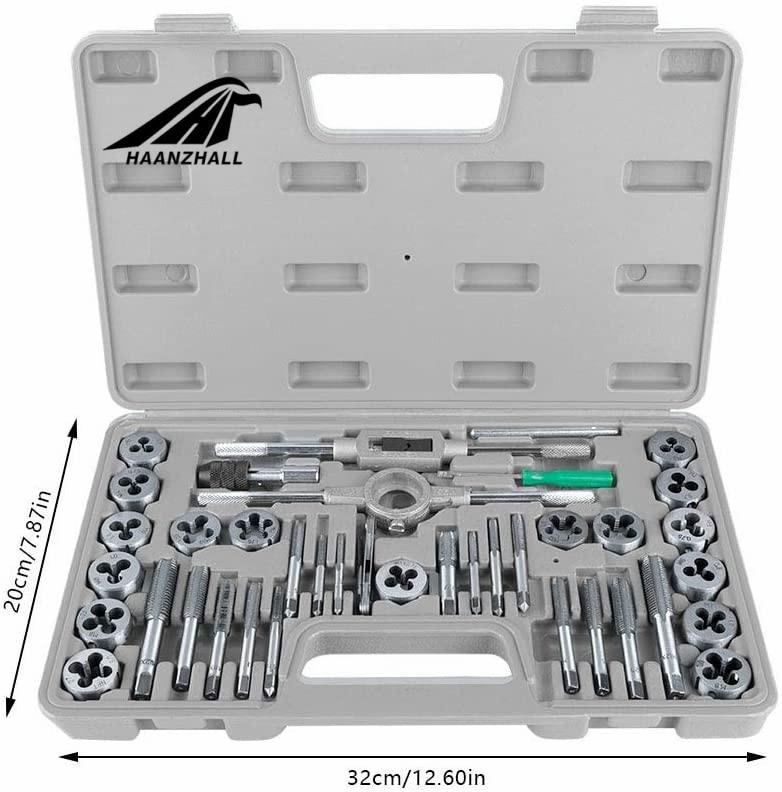 Hand Die Tap Threading Screw Tungsten Set Thread 40 Tool Pcs Bit Carbide Metric
