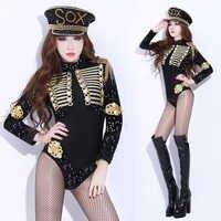 Новый Европейский Американский Ночной костюм барокко, Модный женский костюм с блестками, сексуальный женский черный костюм