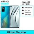 Infinix Note 8 6 ГБ 128 ГБ глобальная Версия Мобильный телефон 6,95 ''HD + Дисплей 5200 мА/ч, Батарея 18 Вт быстрый заряд спирально G80 Octa Core