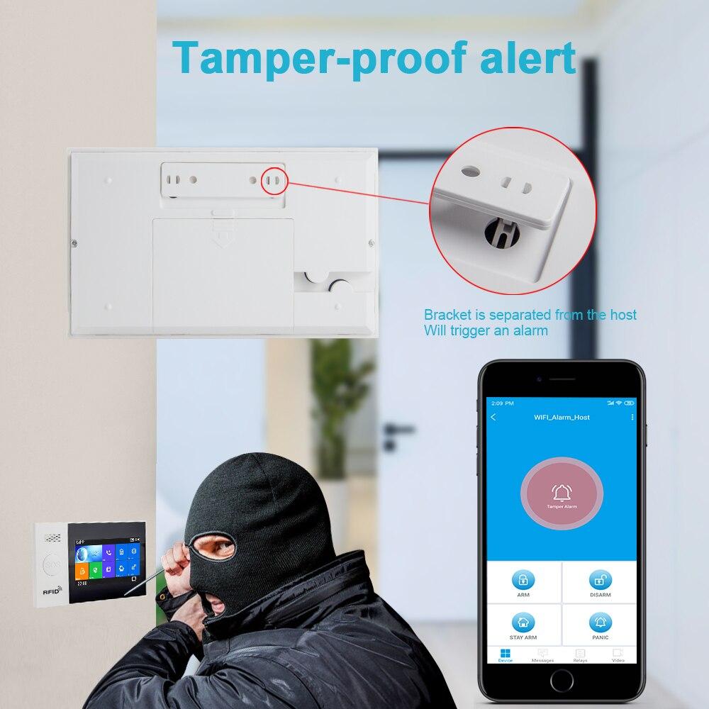Awaywar WIFI GSM smart Alarm System home Security Einbrecher kit 4,3 zoll touchscreen APP Fernbedienung RFID Arm Entwaffnen - 5