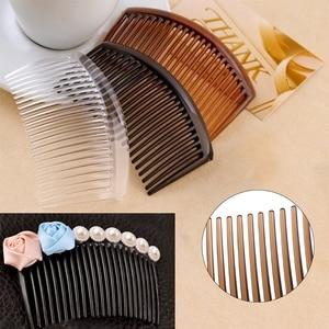 Image 2 - 5 pièces/ensemble peigne à la main 23 dents en plastique chapeaux cheveux accessoires femmes bricolage Clip