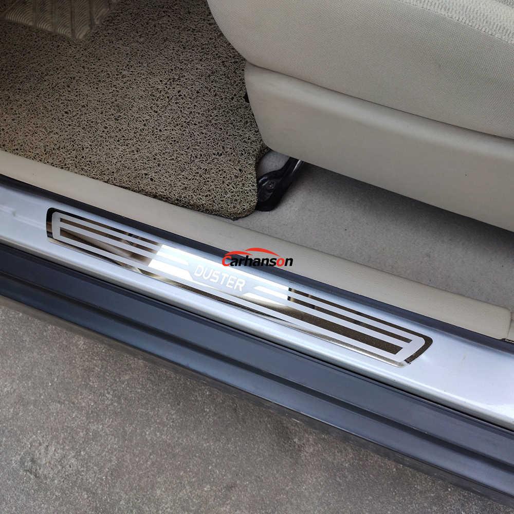 Pedal de Placas de Freno de Coche de Acero Inoxidable Protector de umbral de Puerta para Nissan Qashqai 2016-2020 moldura de protecci/ón de Cubierta de umbral Adhesivo Protector de Placa