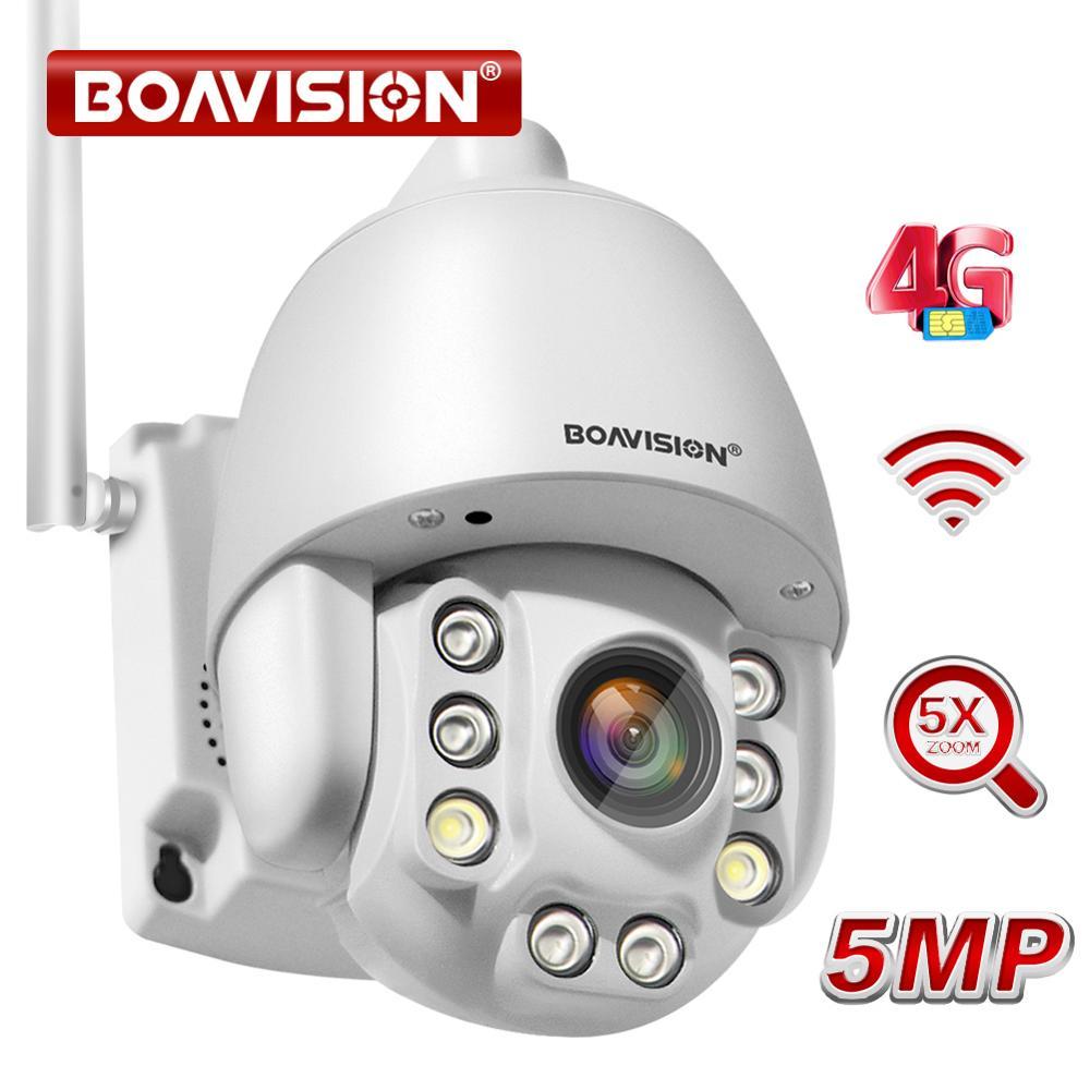 Wifi PTZ IP камера 1080P 5MP 5X Zoom 4G двухсторонняя аудио AI Автоматическая отслеживающая беспроводная камера наружная 60m IR видео камера для домашней бе...