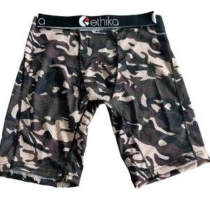 Image 5 - Męskie kolano długość bielizna Tie dye hipster hiphopowy sweter mężczyźni bokserki szybkie pranie moda oddychająca siatka długie nogi bokserki kobiet