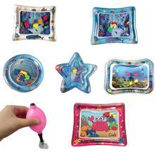 Letnie dziecko nadmuchiwane Patted Pad niemowlęta mata wodna pcv rozwój intelektualny dla zabawy dla dzieci aktywność zabawki prysznicowe tanie tanio Z tworzywa sztucznego Unisex Edukacyjne Sport Cała 1 5 cm Blue White Pink baby toys Baby Inflatable Patted Pad mat for children