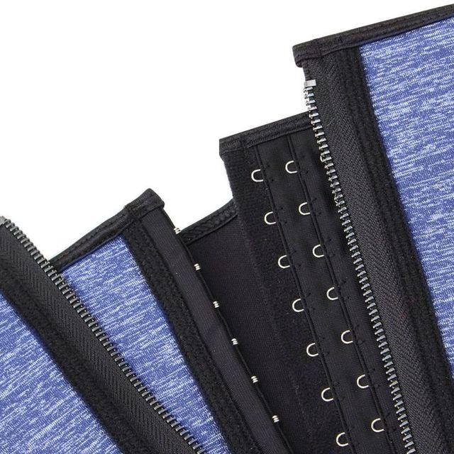 Waist Trainer Belt Dual Layer Quick Anti-sweat Zipper Button Cincher Trimmer Slimmer Body Shaper Strap For Sports Fitness yoga 5
