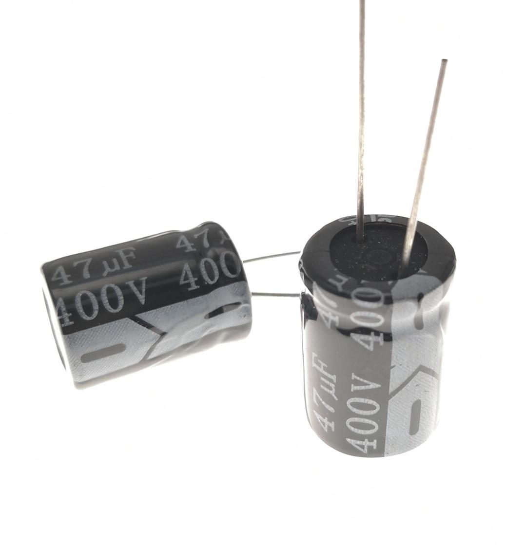 100pcs/lot 47UF 400V 47UF Aluminum Electrolytic Capacitor Size 16*25 20%