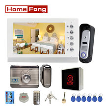 Homefong 7 Inch Door Intercom System with Lock Video Door Phone Doorbell Camera Waterproof Unlock Talk