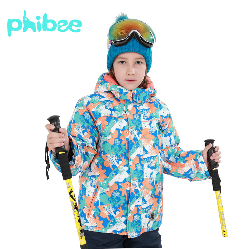 Winter Outdoor Girls Skiing Jackets Waterproof Camping Hiking Jackets Children Windproof Warm Ski Jacket Snowboarding Sport Coat