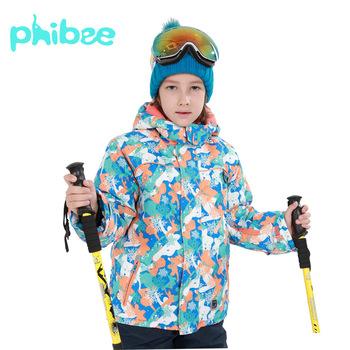 Zima Outdoor Girls narciarstwo kurtki wodoodporne Camping kurtki turystyczne dzieci wiatroszczelna ciepła kurtka narciarska snowboard sportowy płaszcz tanie i dobre opinie sceamout COTTON Poliester Pasuje prawda na wymiar weź swój normalny rozmiar Anti-shrink Przeciwzmarszczkowy Skręcić w dół kołnierz