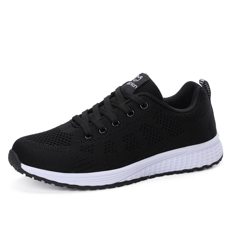 Women's Shoes Sports Shoes Lightweight Comfortable Lace-up Shoes 2019 Autumn Mesh Shoes Men Women Couples Shoes Running Shoes