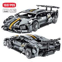 1337PCS High-Tech Famous Bat Sports Racing Cars Assemblage Building Blocks Model Vehicle MOC Ideas Bricks Toys For Boys 023015
