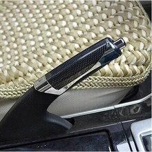 Универсальный черный красный роскошный авто ручной тормоз декоративная защита крышка из углеродного волокна автомобилей внутренний ручной тормоз ручки аксессуар