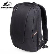 Kingsons marka wodoodporna mężczyźni i kobiety 15 Cal plecak na laptopa komputer przenośny torebka w stylu koreańskim plecaki szkolne dla nastolatków