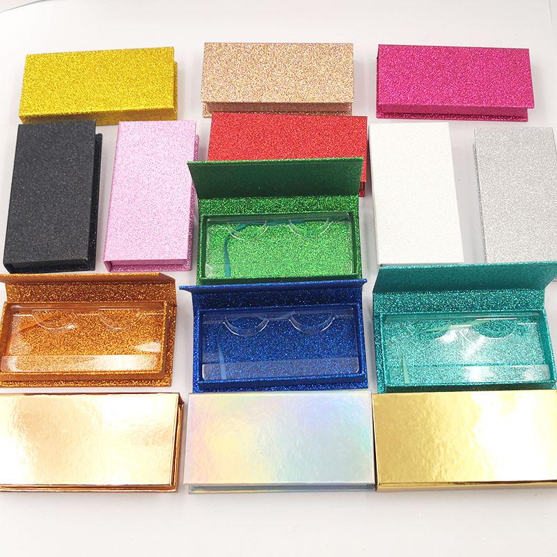 Iflovedekd Private Label Lashes Box Wholesale Glitter False Eyelash Packaging Box OEM LOGO Custom Packaging