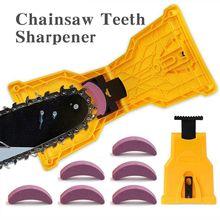Afilador de dientes de motosierra portátil, herramienta de carpintería, montaje en barra, molienda rápida para afilar motosierra