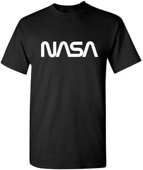 Przestrzeń robaka NASA grafika nowość zabawna koszulka S czarna tanie i dobre opinie Podróż TR (pochodzenie) Cztery pory roku Z okrągłym kołnierzykiem SHORT normal COTTON Na co dzień Znak