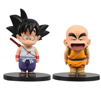 2 Style Dragon Ball Z Son Goku Krillin Childhood Ver. PVC Action Figure Anime DBZ Collection Model Toys For Kids Gift 12-15cm цена 2017