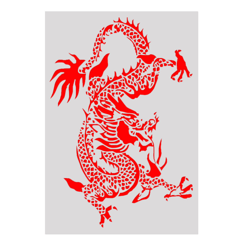 18*26 Dragon Layering Stencils For Diy Scrapbook/photo Album Decorative Embossing Coloring,painting Stencil,home Decor