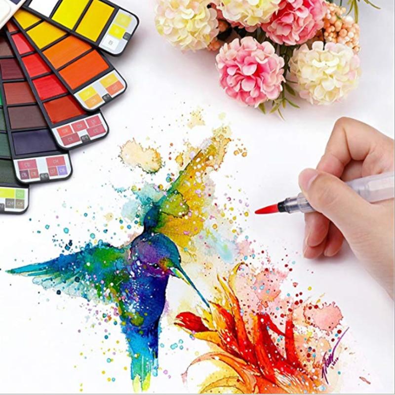 Superior Solid Watercolor Paint Set For Acuarelas & Palette Farby Akwarelowe Portable Watercolor Pigment For Aquarelle Peinture