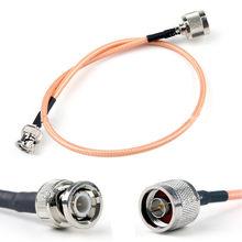 Cable RG316 N macho a BNC, conector macho RF, puente, coleta recta, 4 pulgadas ~ 10M