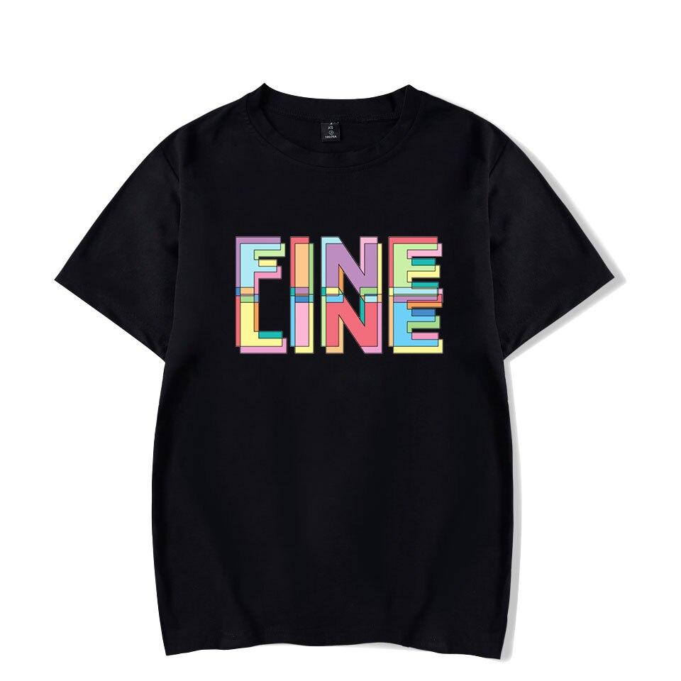 100% Cotton Streetwear Tshirt Harry Styles Fine Line Hip Hop T Shirt Men Women Short Sleeve Tshirts Pink Tee Shirt Plus Size 4XL