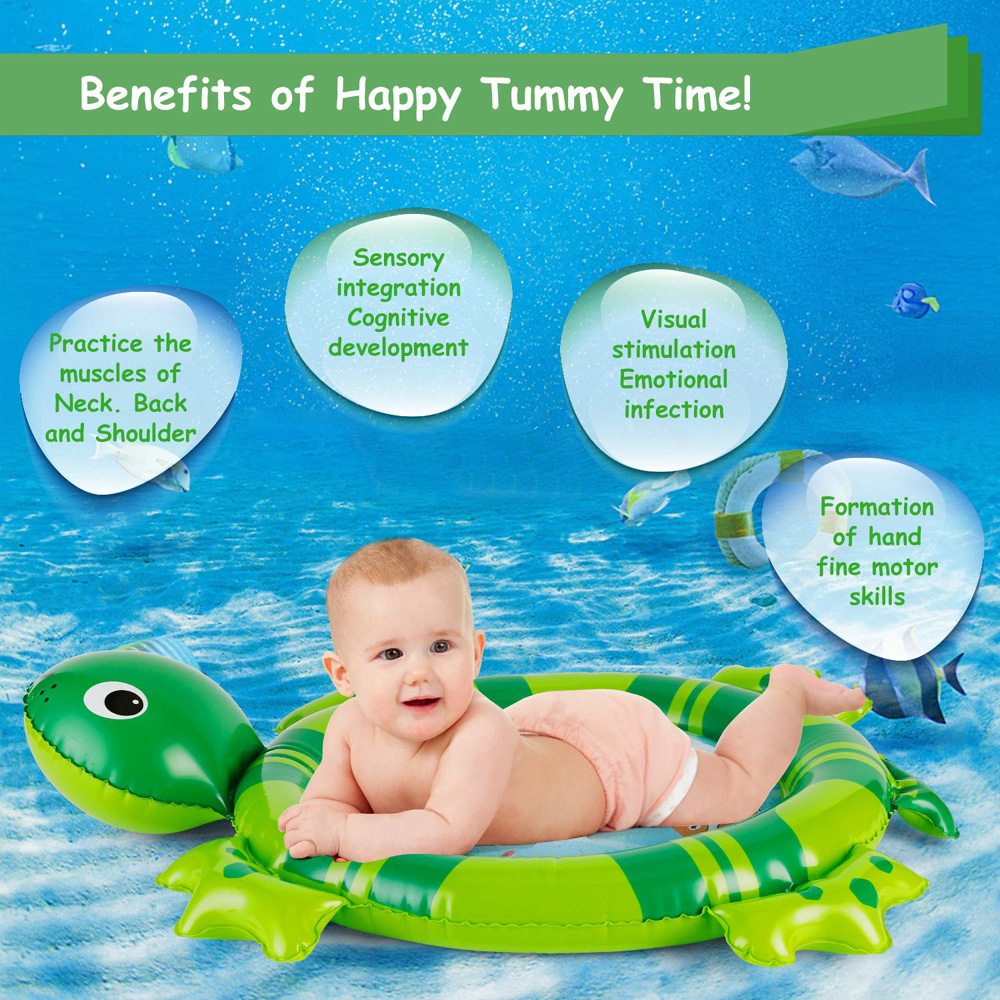 H84cd69034abe4f939706005906336ac8i 36 Designs Baby Kids Water Play Mat Inflatable PVC Infant Tummy Time Playmat Toddler Water Pad For Baby Fun Activity Play Center