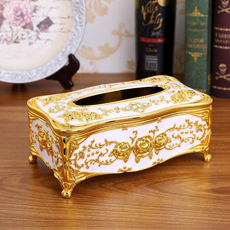 Кухонные держатели для салфеток, классическая коробка для салфеток, контейнер из акрила для ванной, кухонный инструмент, аксессуары для украшения дома - Цвет: gold