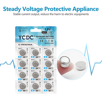 12pcs/pack YCDC AG13 Coin Cell Battery LR44 357 357A S76E G13 Alkaline Button Batteries AG 13 1.5V For Watch Electronic Remote image