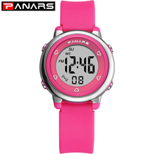 PANARS Children Boys Girls Student Wrist Watch Waterproof LED Digital K