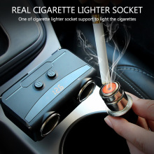 New Car Charger Apple Mobile Phone One For Two Cigarette Lighter Multi-Function Dual USB Digital Display