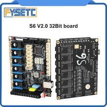 S6 v2.0 placa de controle 32 bits apoio 6x tmc drivers uart/spi voando fio xh/mx conector vs f6 v1.3 skr v1.3