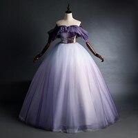 luxury fairy dream lavender vintage ball gown long dress vintage medieval dress Renaissance princess Victoria dress